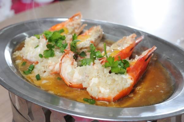 ◆蒜茸蒸生虾