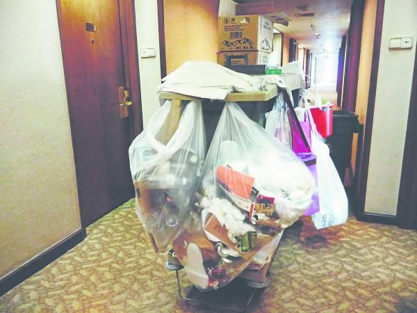这只是酒店垃圾的冰山一角,如果不想成为一份子,就从今天做出改变吧!