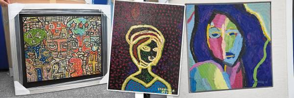 主欣拥有惊人的作画天份,每一幅作品显示其独特的画工。