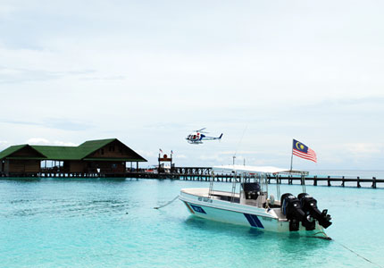 兰卡央岛知名度大开,吸引不少潜水发烧友。