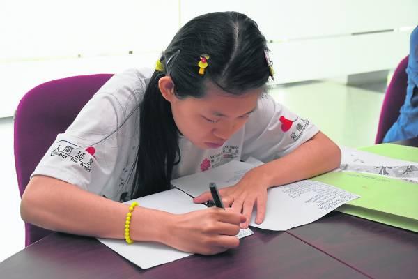 谭主欣的学习能力很强,而她认真的态度更受人激赏。