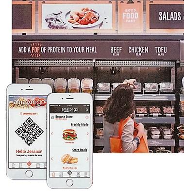 美国亚马逊的智能超市即将开业,消费者进店后只要启动手机程式便可随意购物,店方会透过感应器计算账目,并自动从顾客信用卡扣钱。