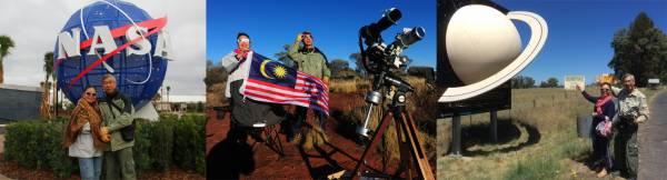 张升荣和何桂花可说在全世界各地都留下踪迹,美国国家航空暨太空署、冰岛、澳大利亚等地,他们都去过了。