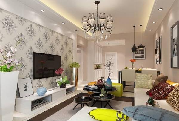 客厅灯光以柔和为主,住得舒服、心情也漂亮。