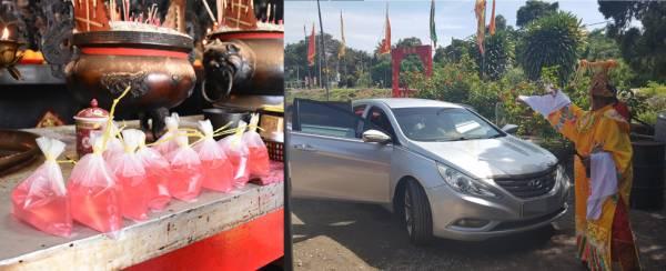 玉皇大帝用法力加持许久的红色符水配合赐财符淋在车牌和车顶上即可招横财,提升财运。