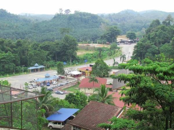 从上空眺望瓜拉立碑动物园的景观,绿油油的一片,让人心旷神怡。