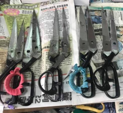钝了的剪刀不要丢,让陈师傅磨一磨即可,耐用又省钱。