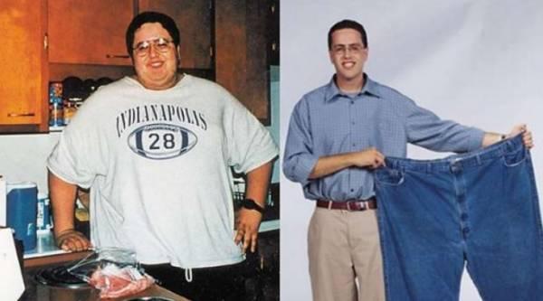 减掉111公斤,相当于两个正常体重的成年人。