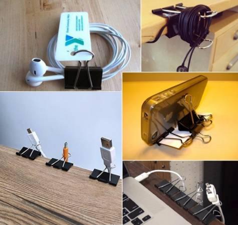长尾夹在旅程中可以帮忙收纳耳机、充电线,更可以化身成电话座,还有更多用途待你慢慢发掘!