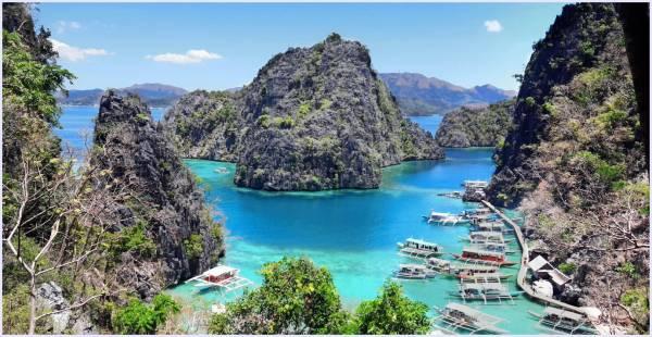 美丽的菲律宾太平海洋上有座妙岛,岛上有湖,湖中有小岛,小岛上又有湖,小湖种又有迷你岛......