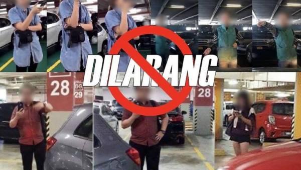 马来西亚警方社媒贴文,提醒民众人身霸车位属于犯法。(照片:大马皇家警察/facebook)
