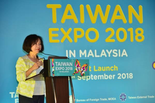 驻马来西亚台北经济文化办事处H.E. Ms. Anne Hung洪慧珠代表致辞。
