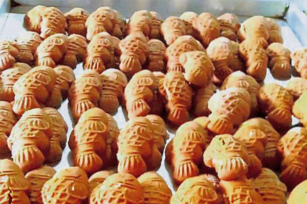 造型可爱精致的公仔饼,也是中秋节不可或缺的应节糕饼之一。