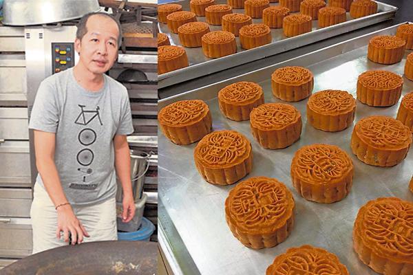 黄琛峰自小在面粉堆里打滚,制作月饼自然也有自己的一套方法。