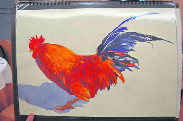 陈雪涛老师表示,书法与风水存在着密切的关系,而透过不同的颜色、物质,并把五行书画摆放在适当的位置上,就能起到风水作用。