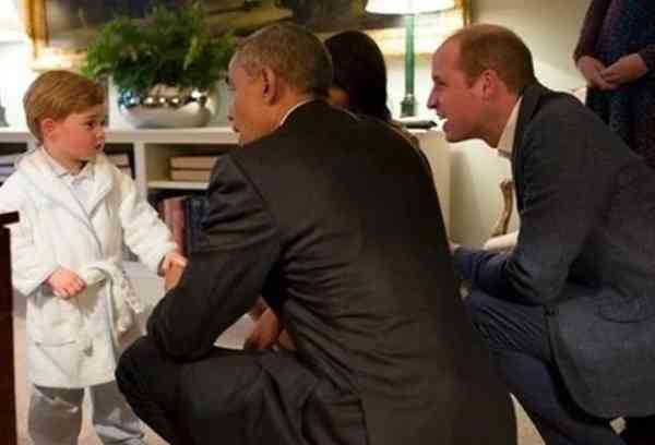 乔治小王子此时此刻的表情,足以成为传说了!