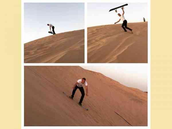 别人冲浪我冲沙!杜拜人最新玩法。