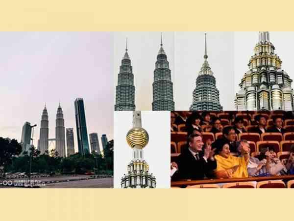 网友用P30 Pro拍出不一样的吉隆坡双子塔,声称还可以看到里面 的人物。他的照片从正常的全景图到局部特写,甚至连塔尖上的圆球形状也可以看得清楚,也才让网民 发现,原来这一棵圆球是金色的。
