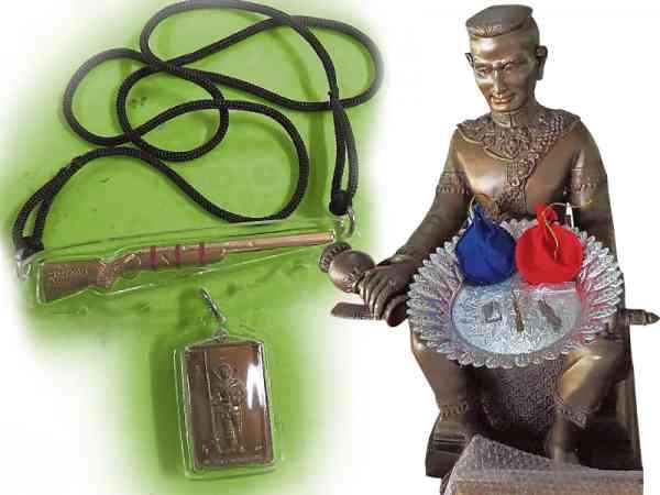 泰国第一世国王骁勇聪颖救国救民,以其自身佛相制成的Nalesuan 佛牌更成为世界各地佛牌爱好者追捧。