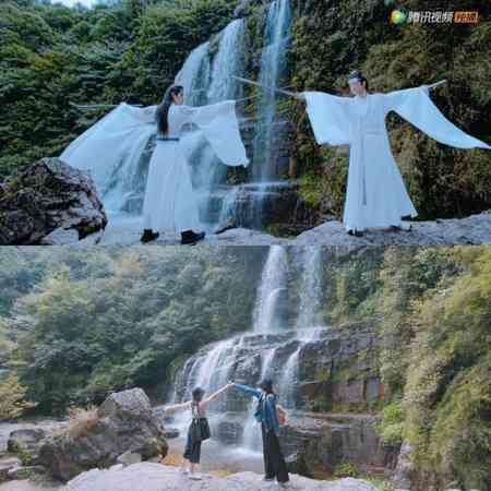 《陈情令》到贵州都匀螺蛳壳瀑布取景,也吸引众多粉丝到访。