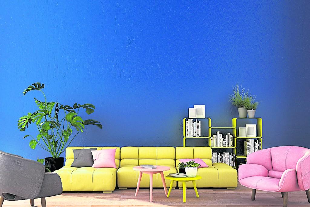 若对客厅墙壁颜色要求不高,很容易导致整个客厅色彩杂乱,让人看起来极其不舒服。