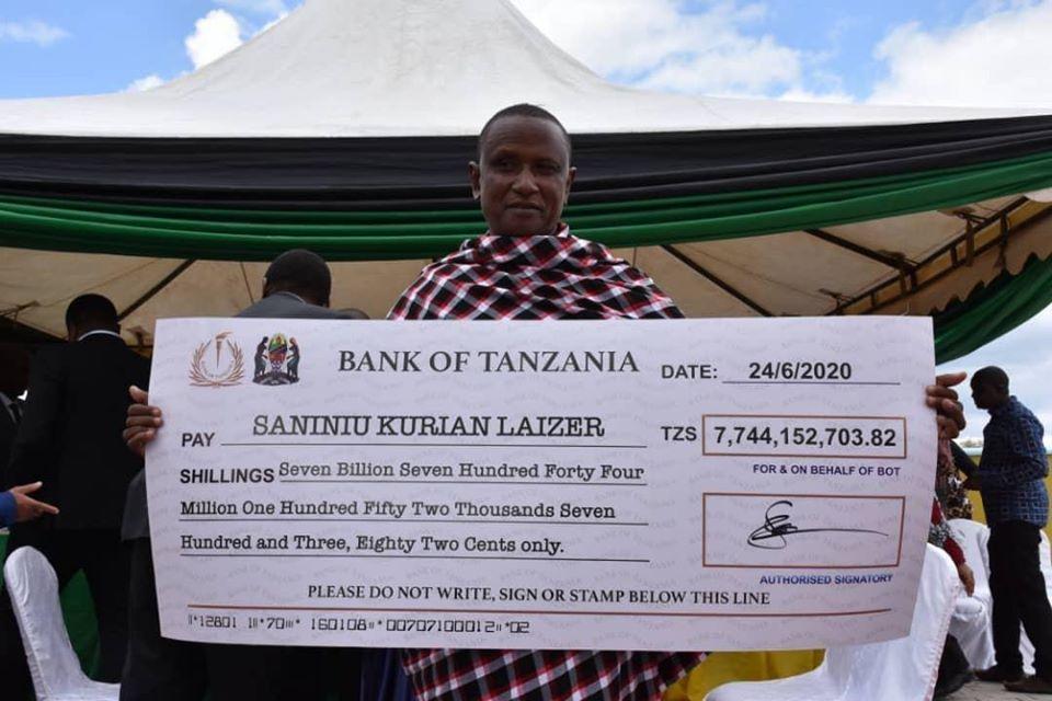 莱泽尔赚了7.74亿坦桑尼亚先令,一夜暴富!