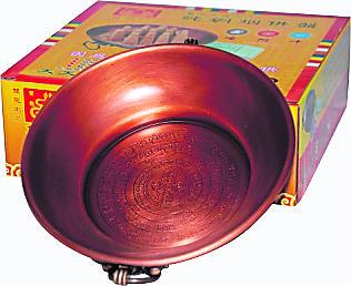 三字明咒纯铜烟供盘
