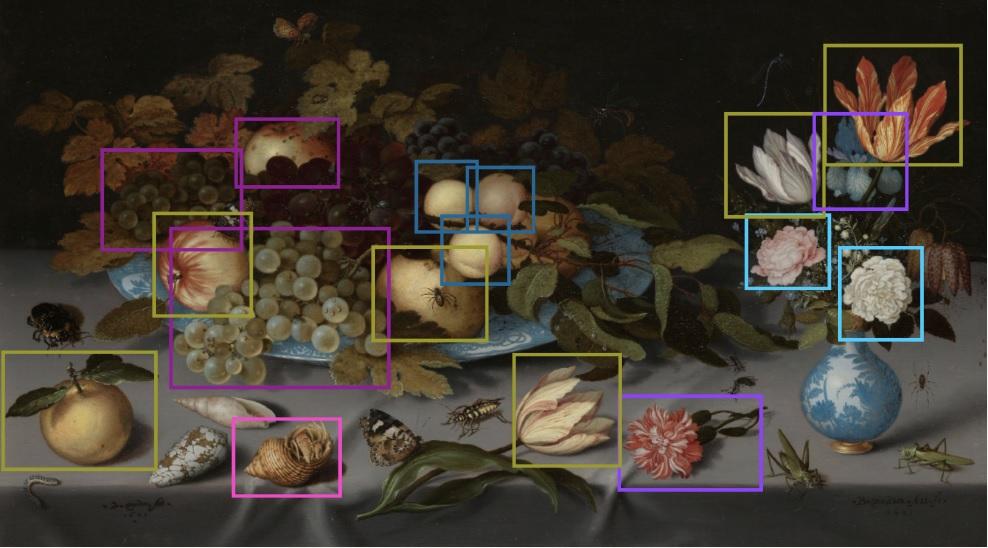 除了文字资料,画作也是科学家们的一项重要资要来源。图为荷兰知名静物画家范德斯特(Balthasar van der Ast)的作品〈水果与鲜花〉(Still Life with Fruit and Flowers)。
