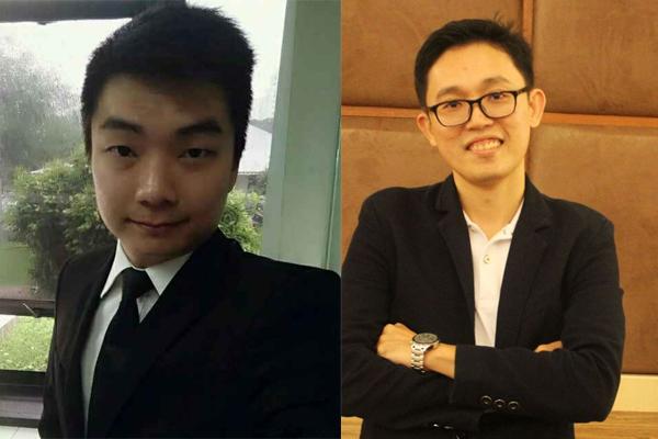 (左)洪伟翔律师;(右)龙耀福