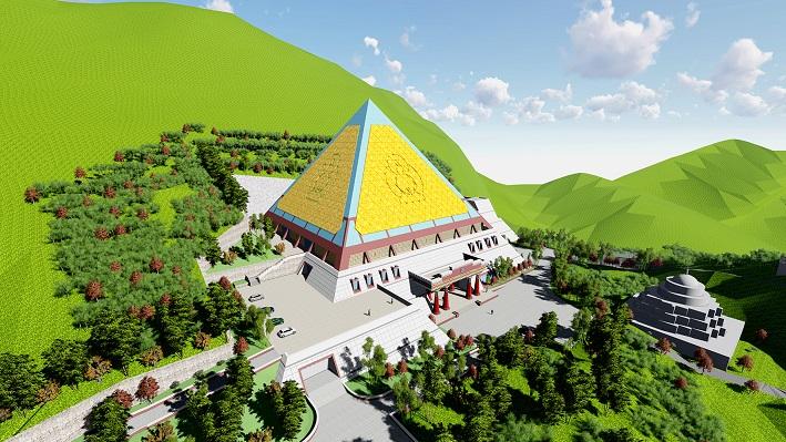 即将施工的香巴拉旅游小镇石刻文化博物馆。
