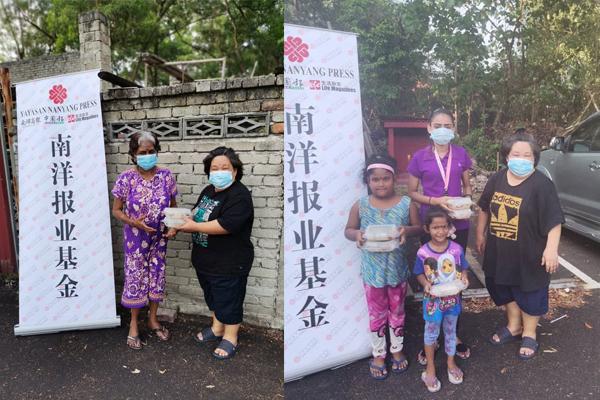 南洋报业基金志工派发食物给芙蓉弱势居民(Bukit Berlian Flat, Seremban)。