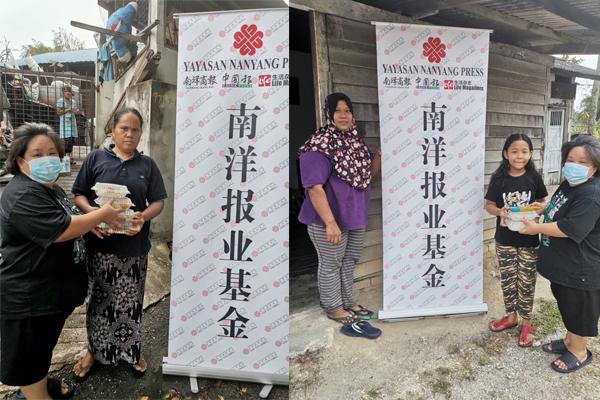 南洋报业基金志工派发食物给芙蓉弱势居民(Temiang, Seremban)。