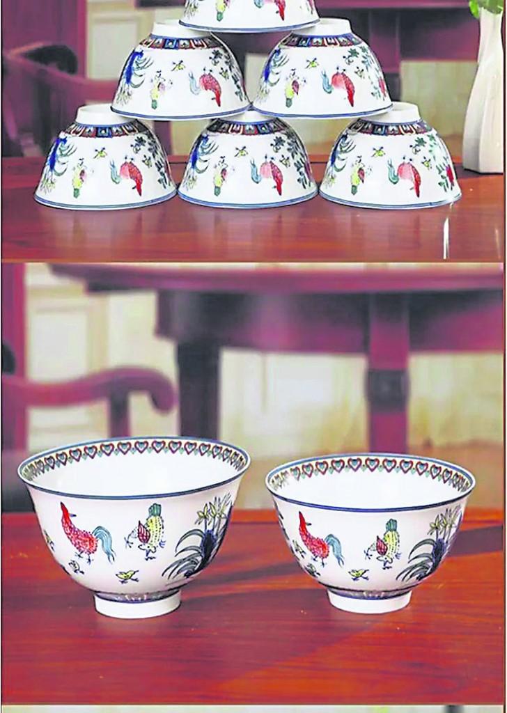 韻光老师教刘先生用十个倒扣的碗叠为山形化煞。