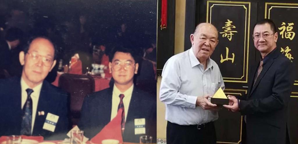 1992年出席第十八届世界华商经贸会议,左为丹斯里吴德芳,右为陳幸堅博士于2019年马来西亚华人博物馆合照。